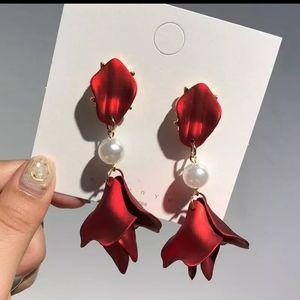 Flower Long Dangle Drop Earrings 2/20$
